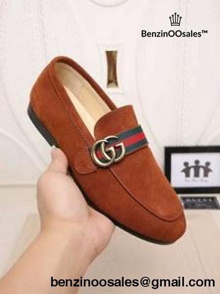 Replica Gg Brand Men Suede Loafers Date