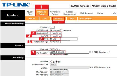 بالصورة شرح كيفية ضبط اعدادات مودم الدي اس ال Tp Link اعدادات الشبكة اللاسلكية Wi Fi Modem Router Modem Router