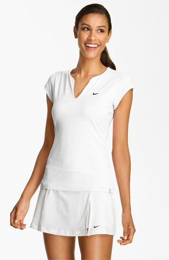 Nike 'Pure' Tennis Top | Tennis clothes, Tennis fashion
