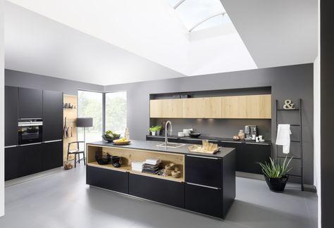 Moderne Küchen stilvoll, innovativ nolte-kuechende Küche - haecker lack matt schwarz