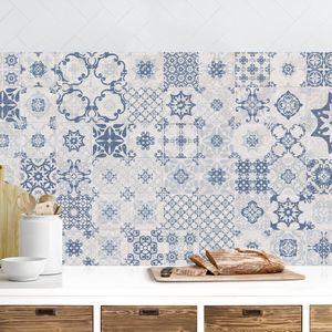 Kuchenruckwand Keramikfliesen Agadir Blau In 2020 Fliesen Fliesen Kuche Wand Keramikfliese