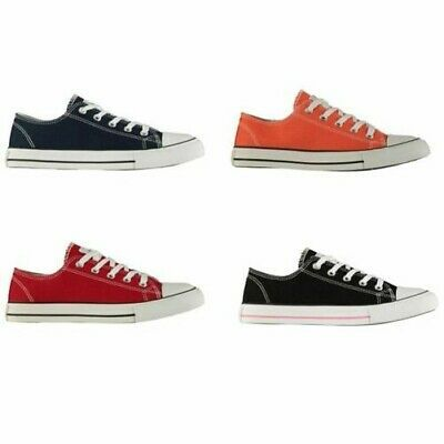 Lee Cooper Canvas Low Trainers Womens