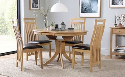 Oak Extending Table And Chairs