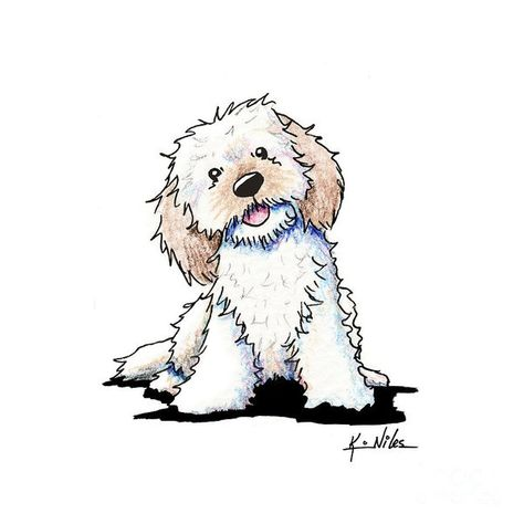 Happy Doodle Puppy Art Print by Kim Niles. All prints are professionally printed, packaged, and shipped within 3 - 4 business days. Choose from multiple sizes and hundreds of frame and mat options.