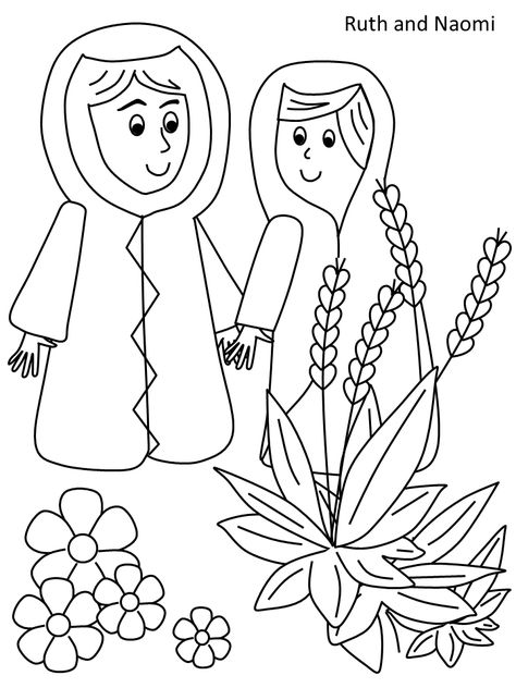 11 5 Ruth And Naomi Coloring Page Sunday School Coloring