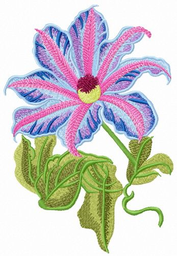 Crafts Floral Crane Embroidered Applique #02 Iron-On Flower Patch for Clothing