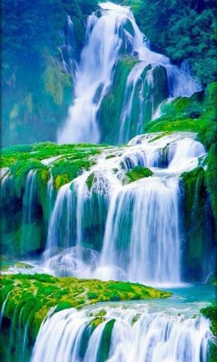 Pin By Beth Francisco On Falling Water Waterfall Wallpaper Live Wallpapers Scenic Waterfall