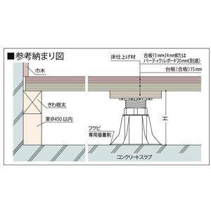 フクビ 乾式二重床支持具 プラ木レン 8a型 浴室 天井 支持 床
