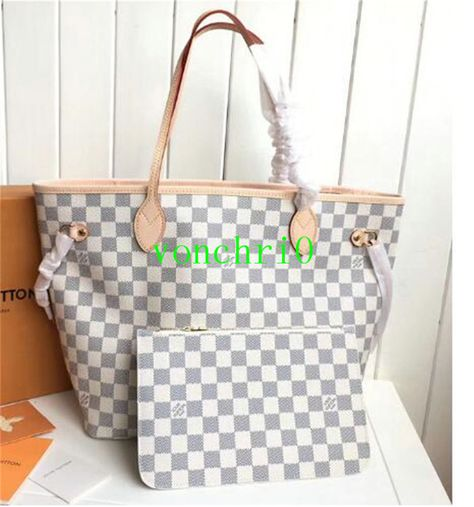 7888cd8f46b8 Authentic Louis Vuitton Neverfull Damier Azur MM Tote Bag With Pouch   fashion  clothing