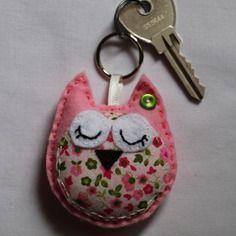 Tuto Cadeau à Fabriquer Un Porteclés Chouette Diy Baby Craft - Porte clé chouette