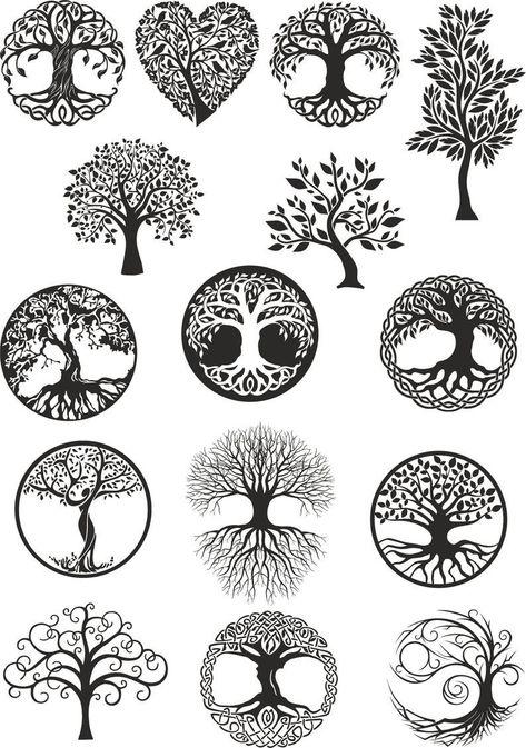 Vector ornament, decorative Celtic tree. Vector dxf, cdr,svg, for CNC, vector file, digital vector art, cnc, cnc file, cnc pattern, cnc cut  #CncWood #CncPlan #TreeVector #cnc #LaserCutVector #LaserCutDxf #FurniturePlan #LaserPlans #FileCnc #CncFile