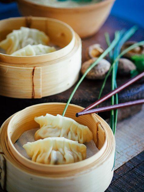 chińskie pierożki na parze