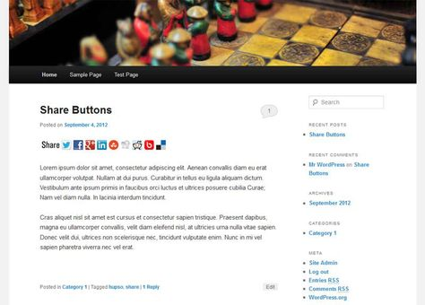 Share Buttons for Twitter, Facebook, Google Plus and other