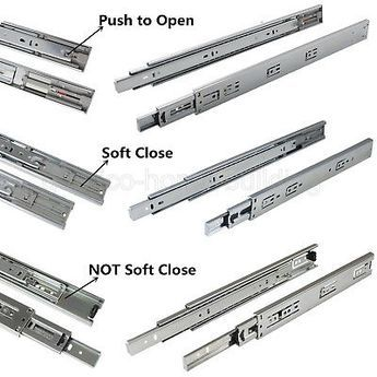 12 24 Full Extension Drawer Slides Side Mount Ball Bearing Heavy Duty 100 Lb Drawer Slides Drawer Slides Diy Drawer Sliders