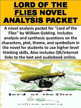 A Novel Analysis Packet For Lord Of The Flies By William Golding