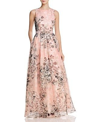 Organza Floral Gown | Floral evening