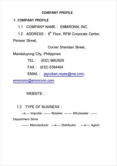 32 Free Company Profile Templates In Word Excel Pdf Company Profile Template Company Profile Profile