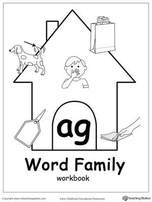 AR Word Family Trace and Match   Short words, Writing skills and ...