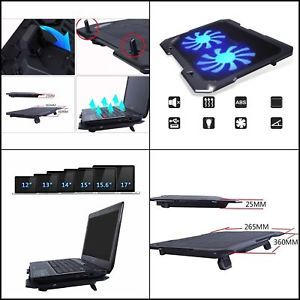2 Fan Laptop Cooling Pad Cooler Stand Gaming Laptop Computer Ultra
