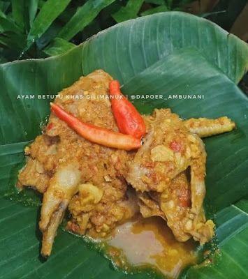 Ayam Betutu Khas Gilimanuk Resep Masakan Makanan Dan Minuman Resep Ayam