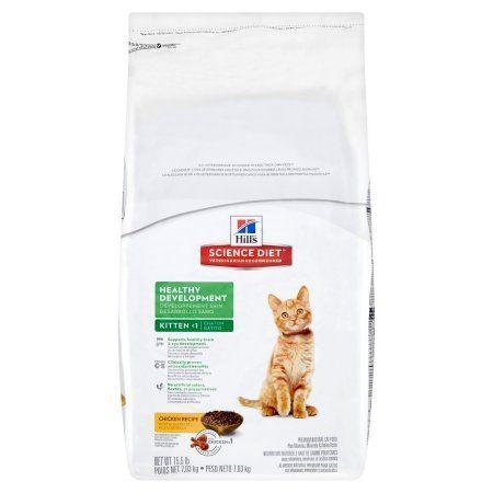 Hill S Science Diet Kitten Healthy Development Chicken Recipe Dry Cat Food 15 5 Lb Bag Chicken Recipes Dry Science Diet Hills Science Diet
