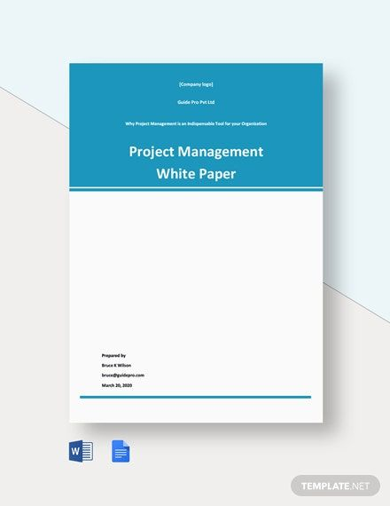 Project Management White Paper Template Free Google Docs Word Template Net Paper Template Paper Template Free White Paper