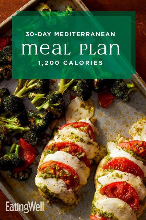 In this 30-day meal plan, we incorporate the principles of the Mediterranean diet with plenty of meal-prep recipes and no-cook breakfast options to make eating healthy and losing weight realistic for busy schedules. At 1,200 calories, this plan should help you lose a healthy 1 to 2 pounds per week. #mealplan #mealprep #healthymealplans #mealplanning #howtomealplan #mealplanningguide #mealplanideas #recipe #eatingwell #healthy #HealthyDietPlanToLoseWeightFast