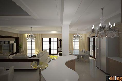 Interioare Case Moderne.Design Interioare Living Case Vile Moderne Proiecte Design