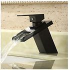 Brass Waterfall Bathroom Basin Faucet Square Sink Mixer Tap Oil Rubbed Bronze