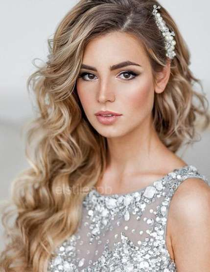 Wedding Hairstyles For Long Hair To The Side Curls Natural 52 New Ideas Wedding Hairstyles For Long Hair Side Hairstyles Wedding Hair Inspiration