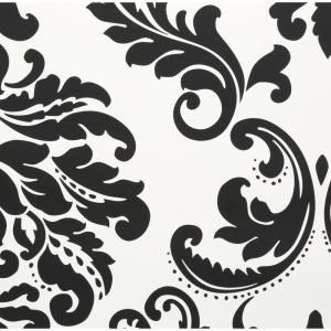 Nuwallpaper 30 75 Sq Ft Ariel Black And White Damask Peel And Stick Wallpaper Nu1646 The Home Depot White Damask Nuwallpaper Damask