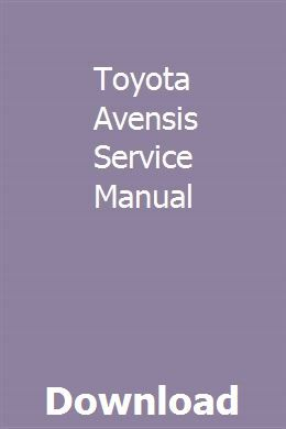 Toyota Avensis Service Manual Chilton Repair Manual Owners Manuals Chilton