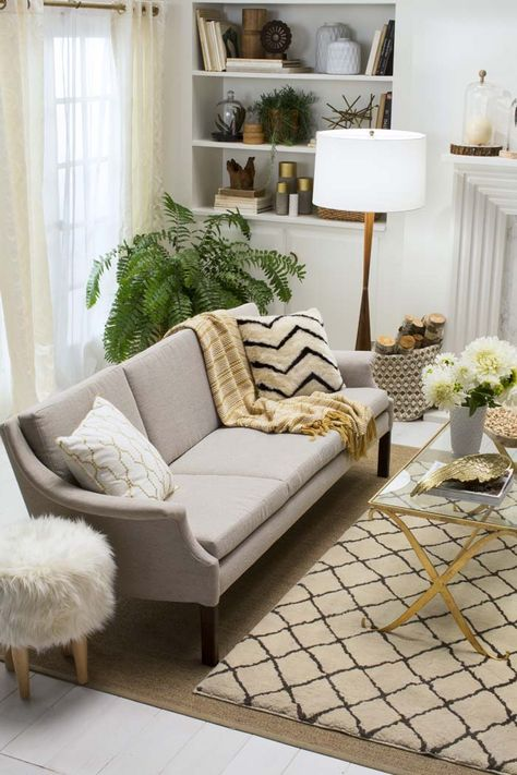 How to Make Your Home Look More Expensive on a Dime with 10 simple tips via www.artsandclassy.com and blog.chairish.com