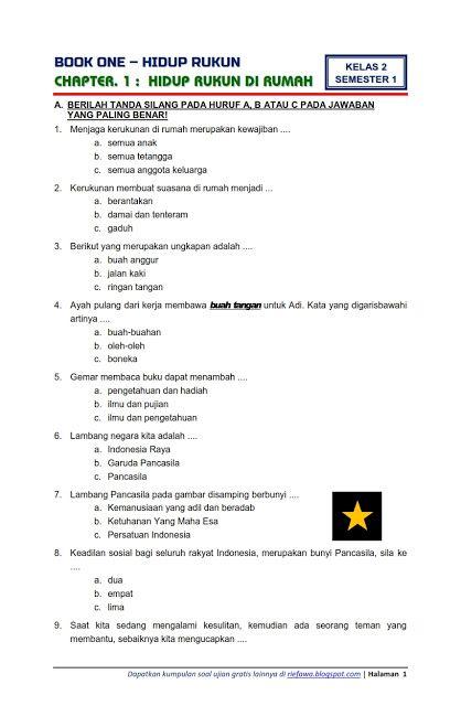 Soal Uts Bahasa Indonesia Kelas 4 Semester 1 Dan Kunci Jawaban : bahasa, indonesia, kelas, semester, kunci, jawaban, Download, Kelas, Semester, Kunci, Jawaban, Peranti