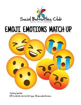 Social Group Game Play Emoji Emotions Match Up Social Skills Program Social Skills Groups Teaching Social Skills