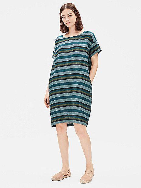 19r January Lookbook 7 Striped Dress Striped Linen Plus Dresses