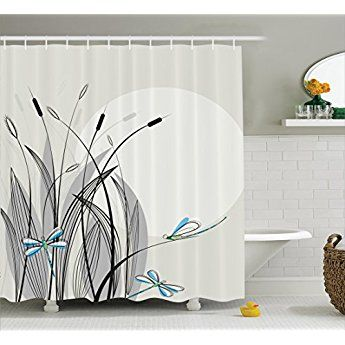 Dragonfly Shower Curtain Apartment Decor By Ambesonne Dragonflies