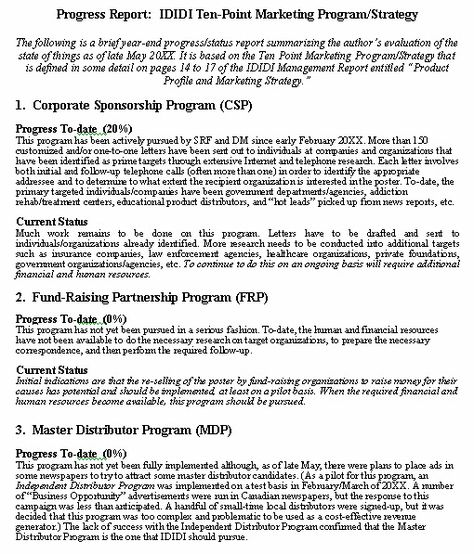 progress report format sample for typical test pingo lingo - sample evaluation report
