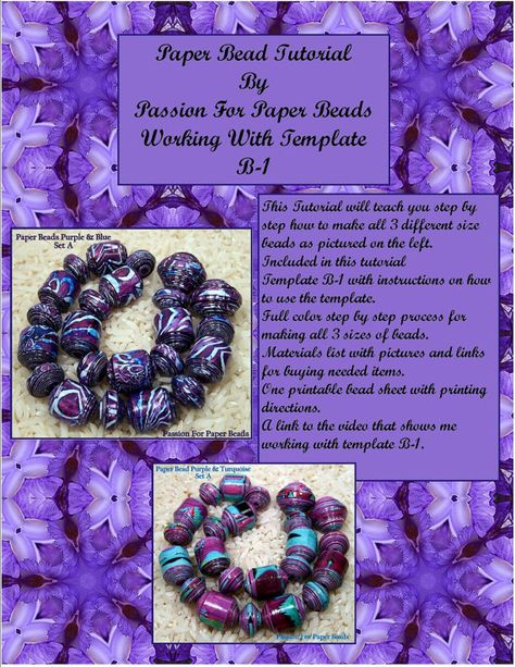 Paper Bead Tutorial Working With by PassionForPaperBeads on Etsy, $14.99