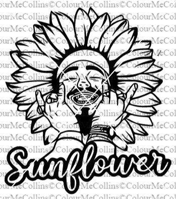 Post Malone Svg Sunflower Svg Post Malone Sunflower Svg Post Malone In 2020 Sell My Art Post Malone Svg