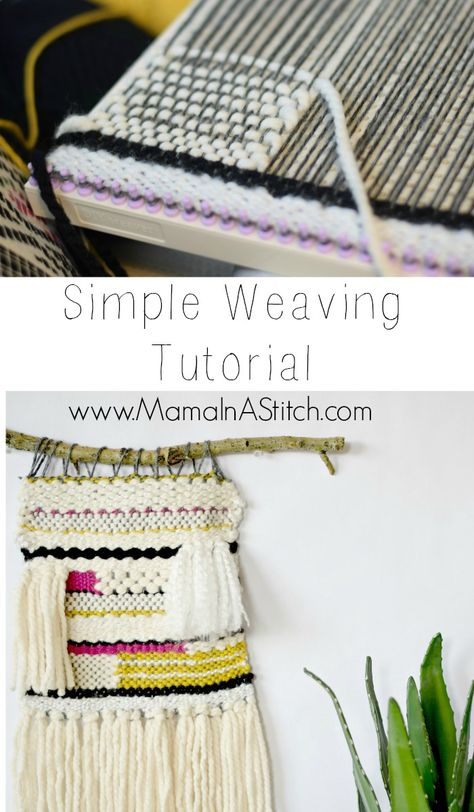 How To Weave A Wall Hanging Tutorial | Pinterest | Telar, Tejido y ...