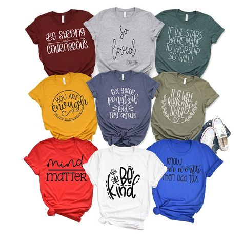Inspirational Graphic Tees $14.99