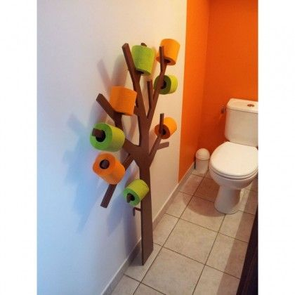 Reserve Papier Wc Design Arbre Couleur Gris Arbre Papier Toilette Papier Toilette Mobilier De Salon