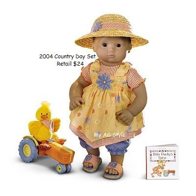 Pleasant Company American Girl  Bitty Baby 1999 Retired Rainy Day WIND UP DUCK
