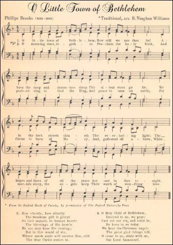 O Little Town Of Bethlehem Antique Sheet Music Yahoo Image