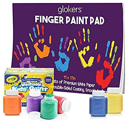 Jordan Easter Amazon Com Glokers Finger Paint Paper Pad Bundle With 6 Non Toxic Washable Toddler Arts And Crafts Finger Painting For Toddlers Finger Painting