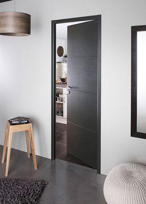 Zwarte binnendeuren met minimalistische zwarte blokkader Interiors