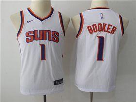low cost 645e1 33a8c Phoenix Suns #1 Devin Booker Youth White Swingman Jersey ...