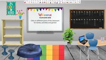Bitmoji Virtual Classroom Template Editable Google Slide Distance Learning Virtual Classrooms Classroom Learning