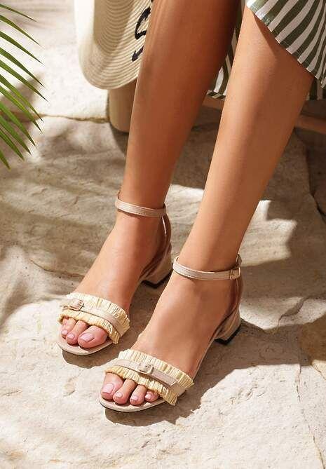 Zlote Sandaly Equal W Renee Pl Slip On Sandal Sandal Espadrille Shoes